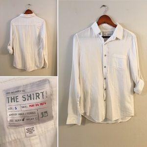 Joe's Jeans breathable white cotton unisex shirt